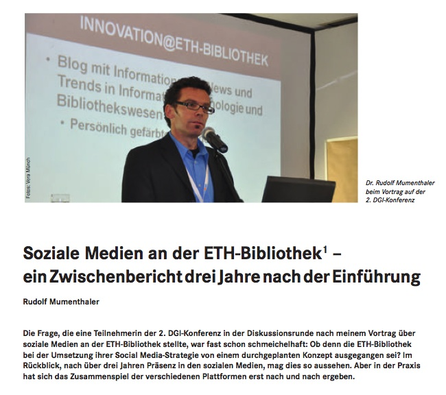 Social Media at ETH-Bibliothek